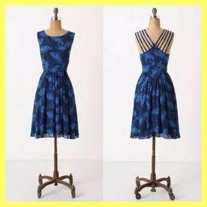 Anthro MAPLE Blue Dandelion Dress 4
